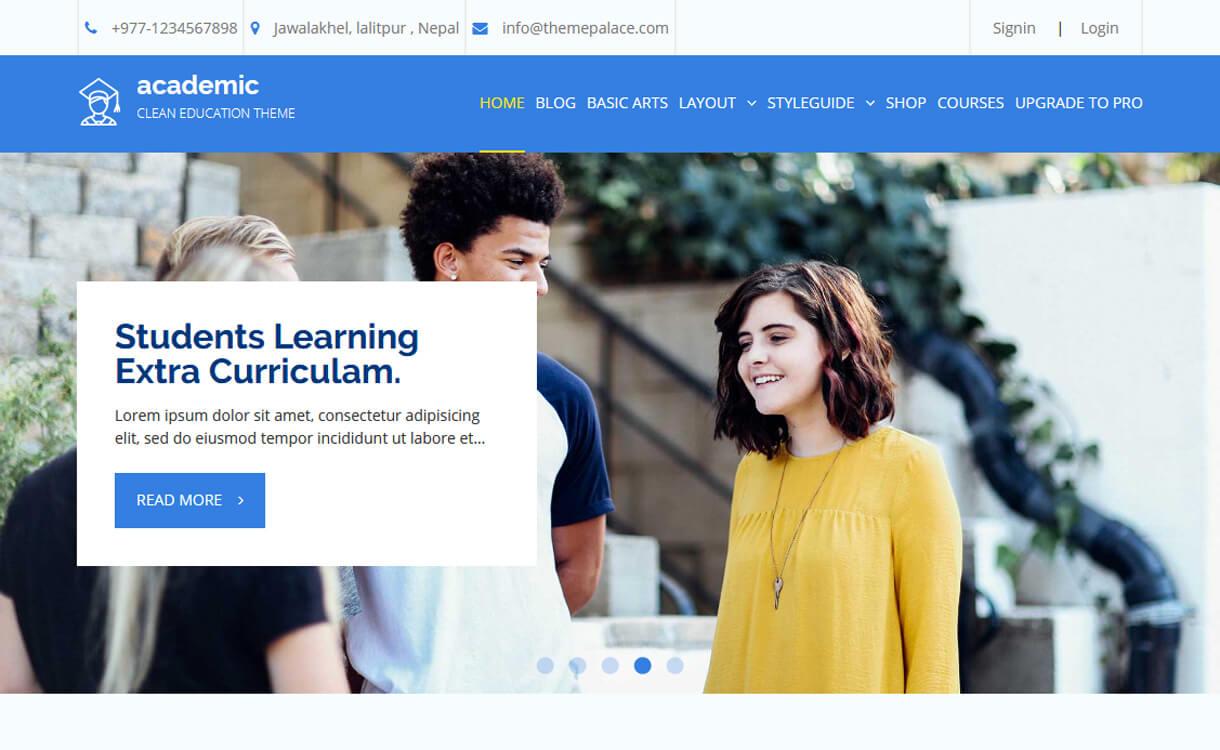 academic free education wordpress theme - 30+ Best Free Education WordPress Themes 2019
