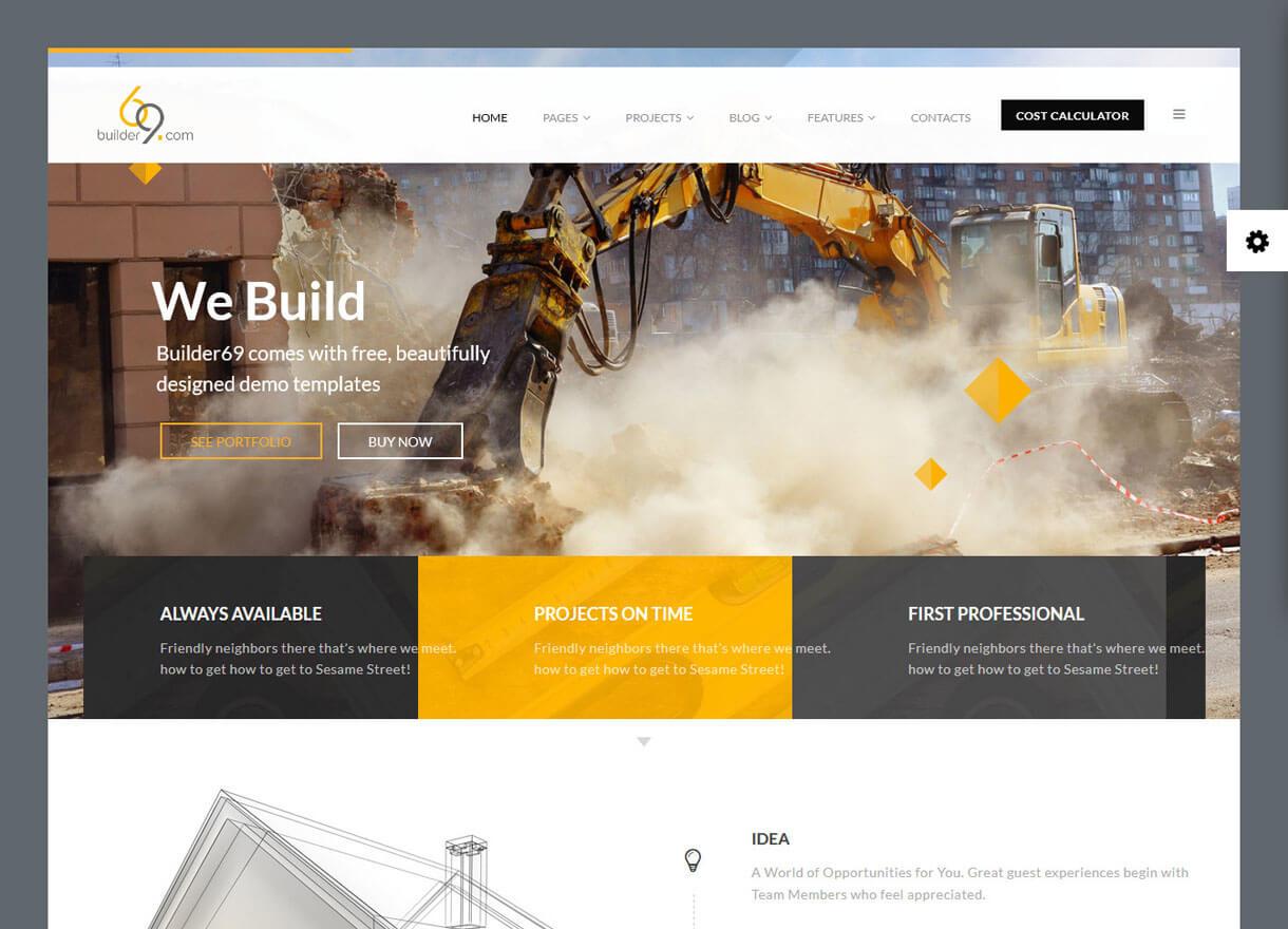builder69 best premium wordpress construction company themes 2018 - 30+ Best Premium WordPress Construction Company Themes 2019