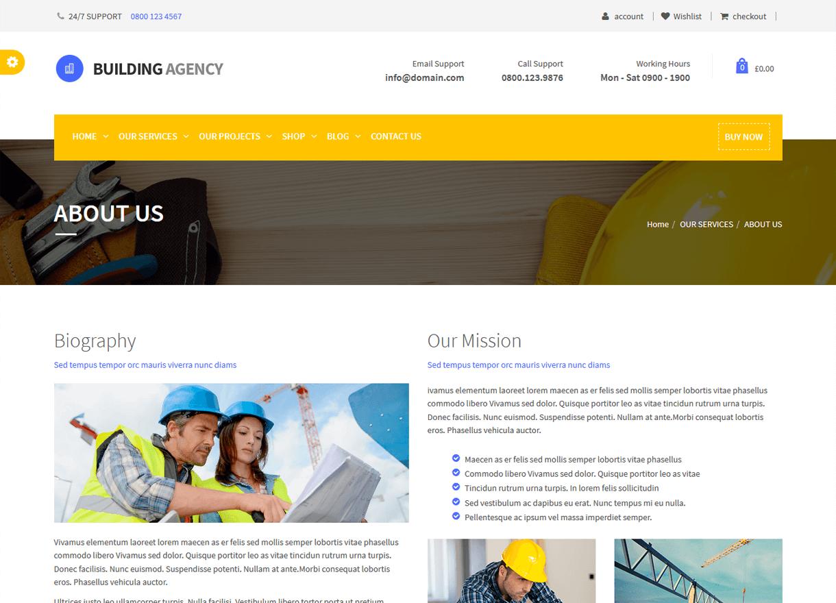 building agency best premium wordpress construction company themes 2018 - 30+ Best Premium WordPress Construction Company Themes 2019
