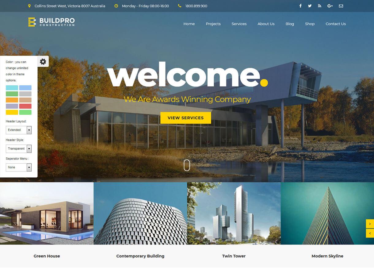 buildpro best premium wordpress construction company themes 2018 - 30+ Best Premium WordPress Construction Company Themes 2019