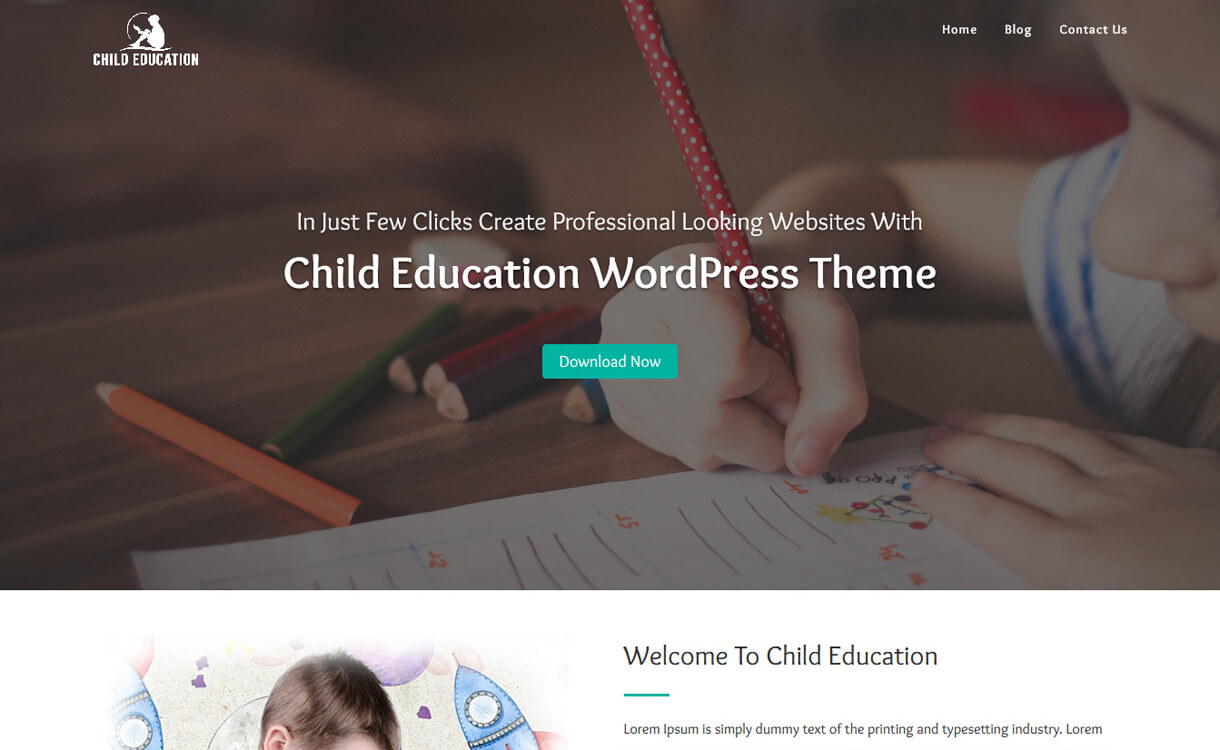 Child Education-Best Free Education WordPress Themes 2018