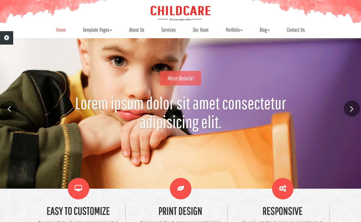 Childcare-Best Free Education WordPress Themes 2018