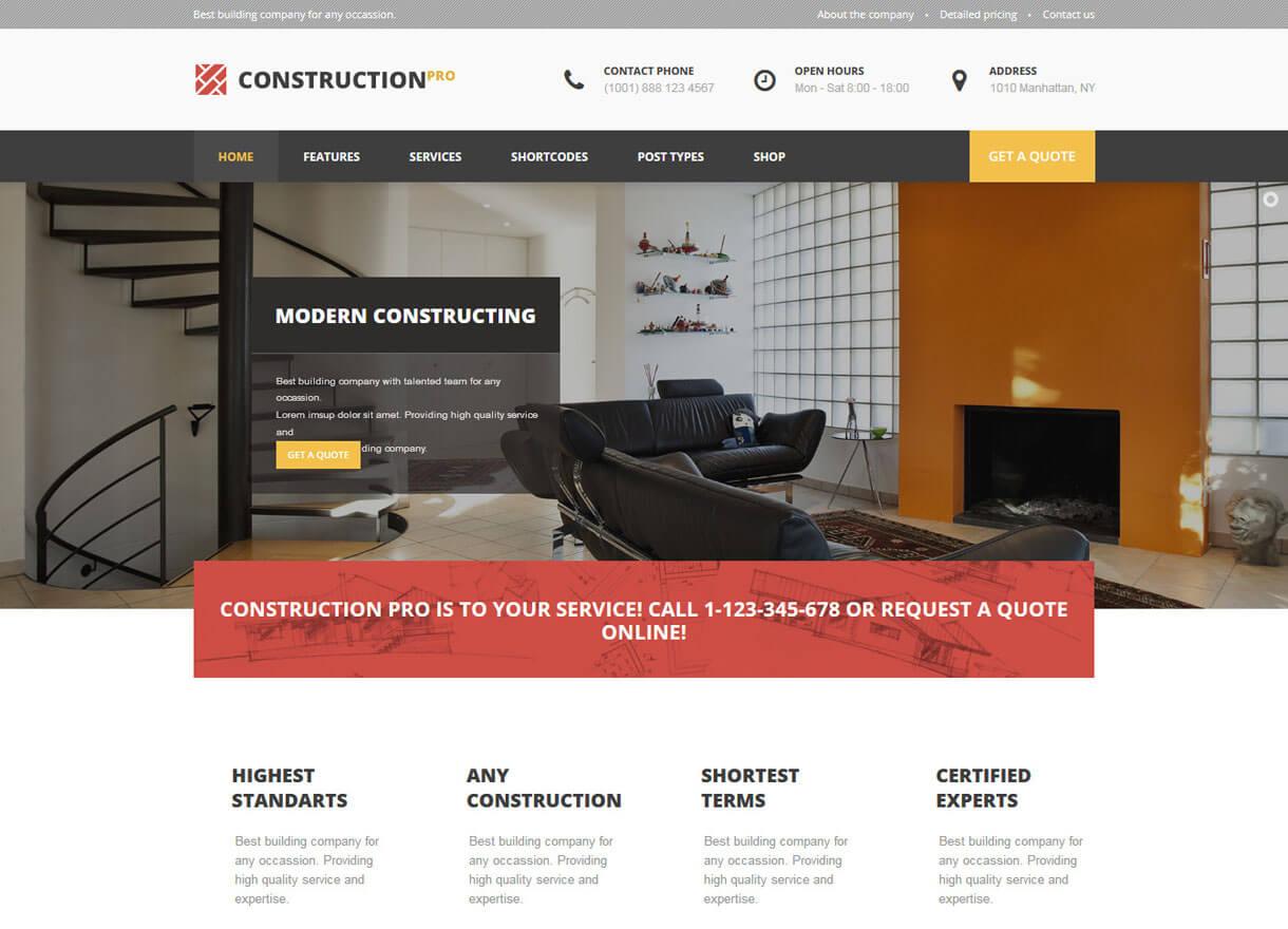 construction pro best premium construction0company themes 2018 - 30+ Best Premium WordPress Construction Company Themes 2019