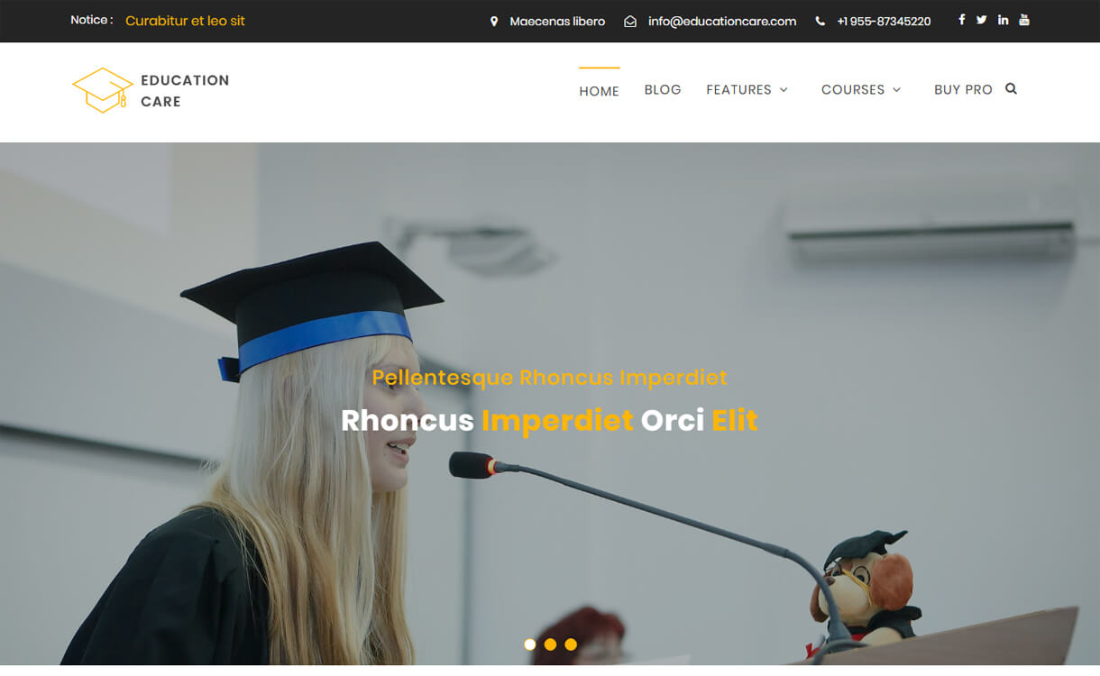 education care free education wordpress theme 1 - 30+ Best Free Education WordPress Themes 2019