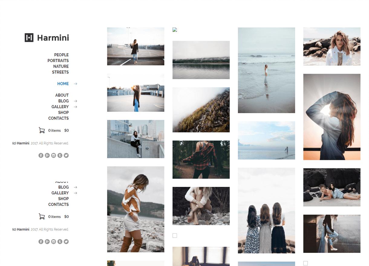 harmini premium wordpress photography themes - 30+ Best Premium WordPress Photography Themes 2019