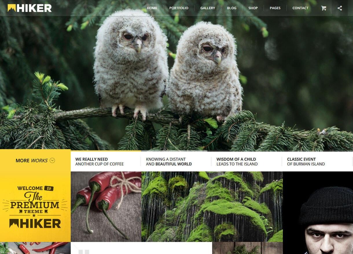 hiker premium wordpress photography themes - 30+ Best Premium WordPress Photography Themes 2019