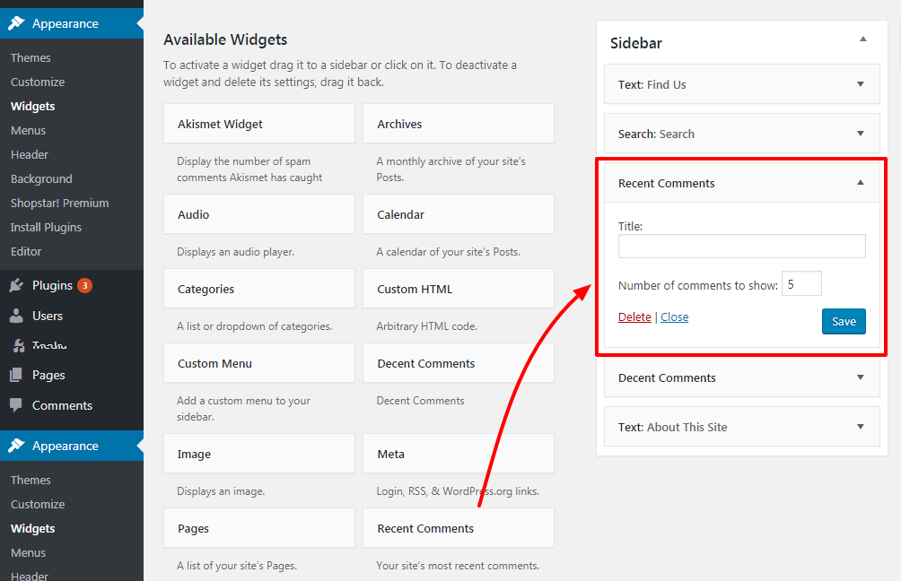how to add recent comments in your wordpress sidebar 5 - How to show recent comments in WordPress Sidebar