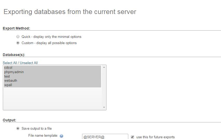 how to manually backup WordPress database - How to manually backup a WordPress database