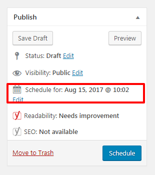 how to schedule your posts in wordpress 2 - Two simple ways to schedule posts in WordPress