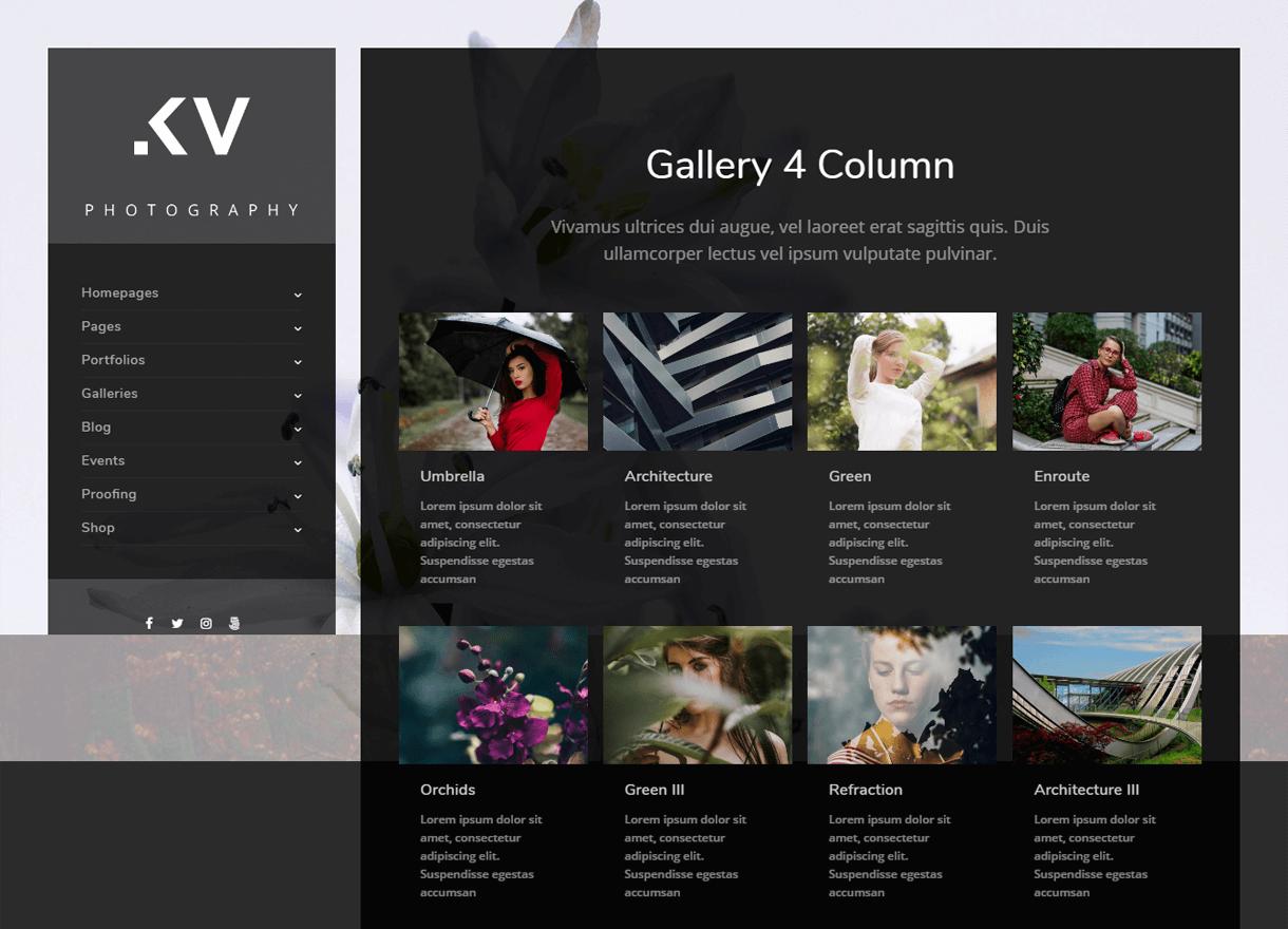 kreative premium wordpressphotography themes - 30+ Best Premium WordPress Photography Themes 2019