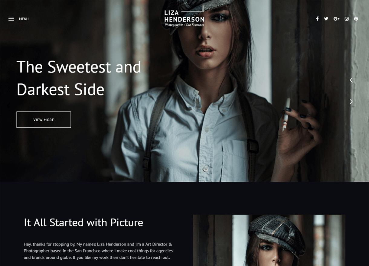 Liza-Best Premium WordPress Photography Themes