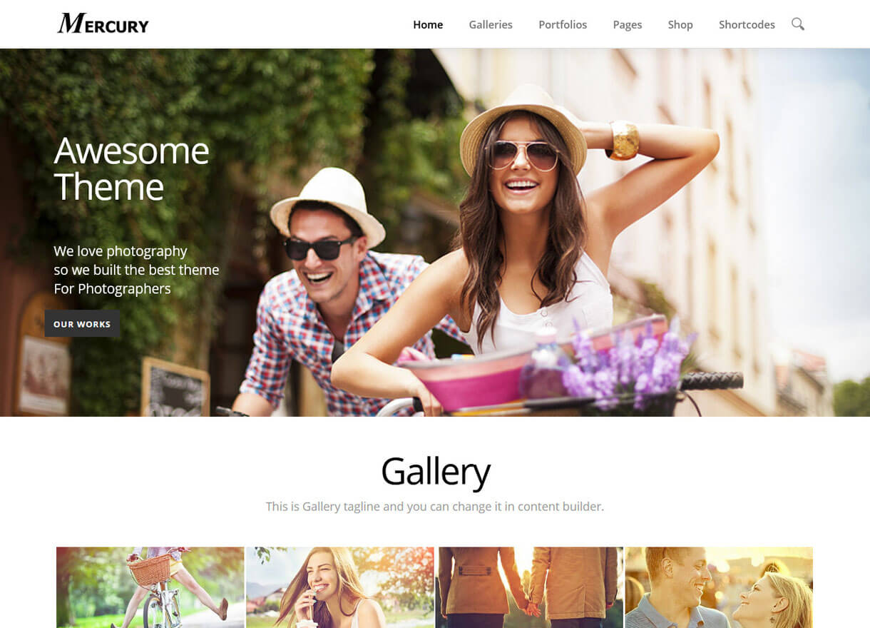 mercury premium wordpressphotography themes - 30+ Best Premium WordPress Photography Themes 2019