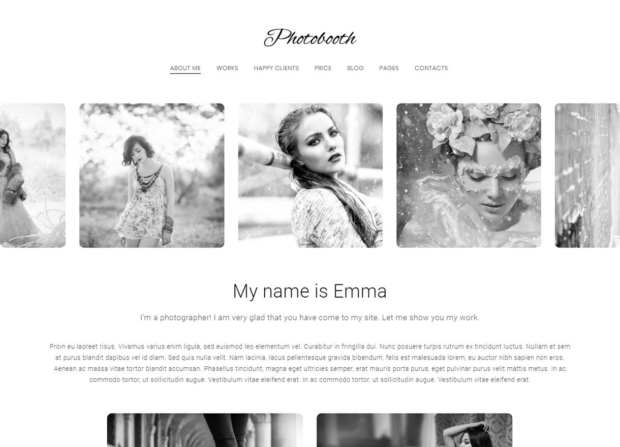 Photobooth-Best Premium WordPress Photography Themes