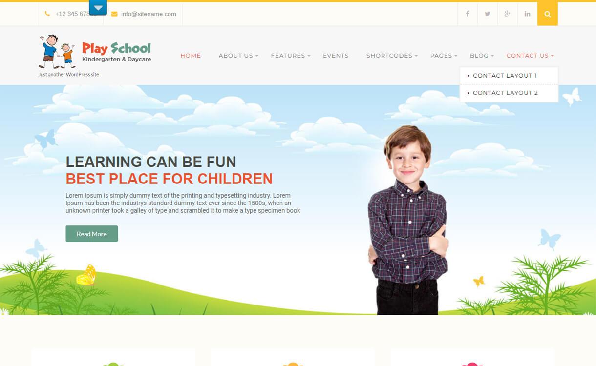 Play School Lite-Best Free Education WordPress Themes 2018