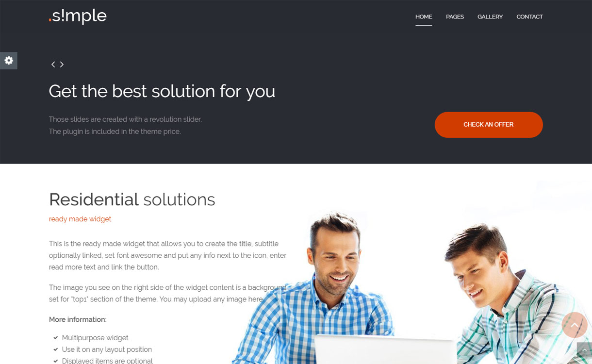 Simple - Premium Business WordPress Theme