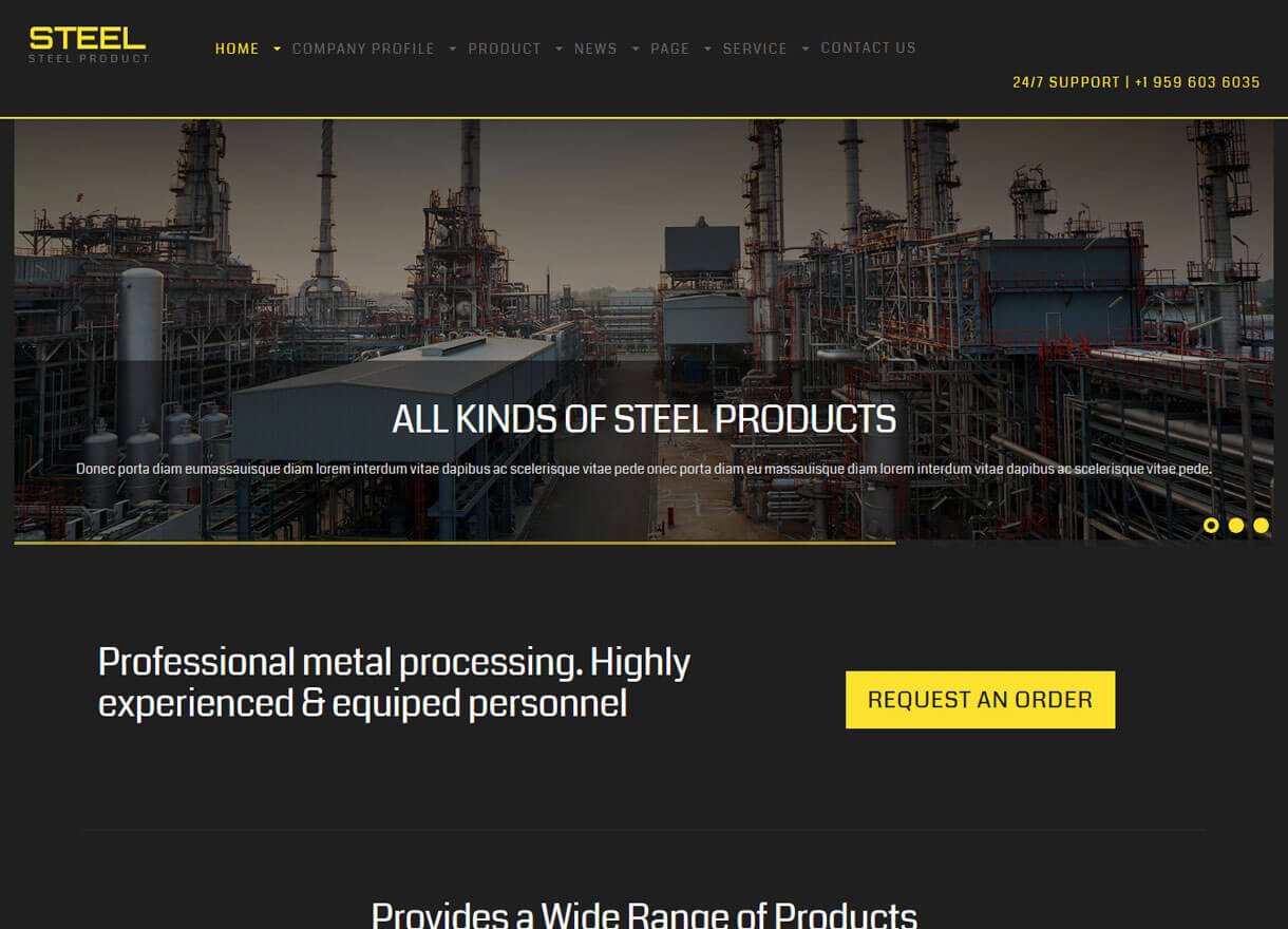 steel best premium wordpress construction company themes 2018 - 30+ Best Premium WordPress Construction Company Themes 2019