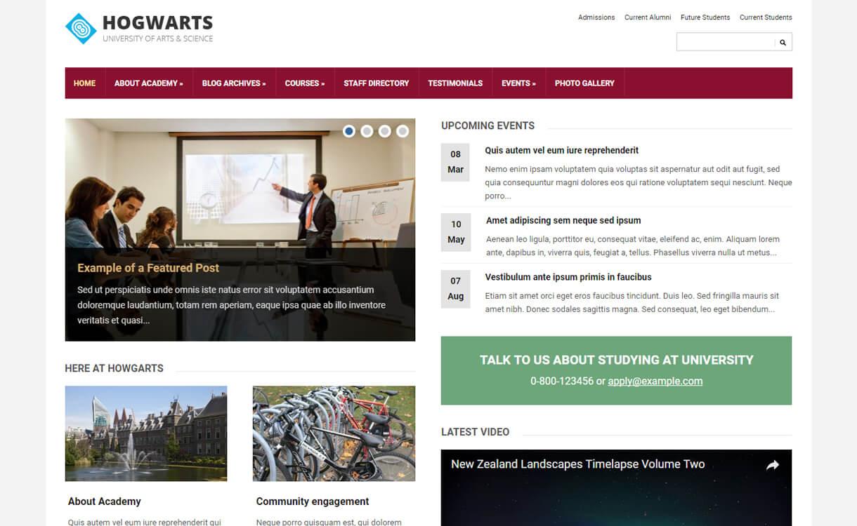 tech literacy free education wordpress theme - 30+ Best Free Education WordPress Themes 2019
