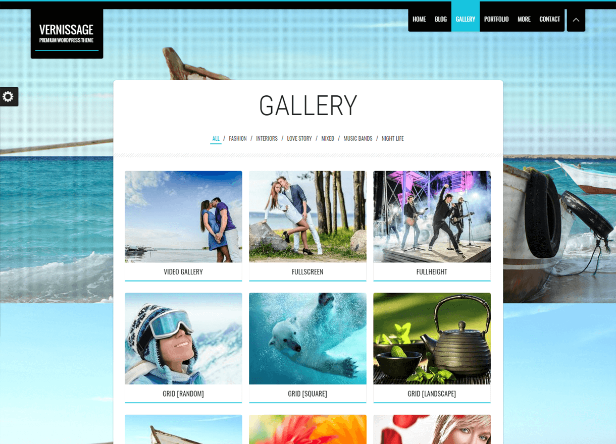 Vernissage-Best Premium WordPress Photography Themes