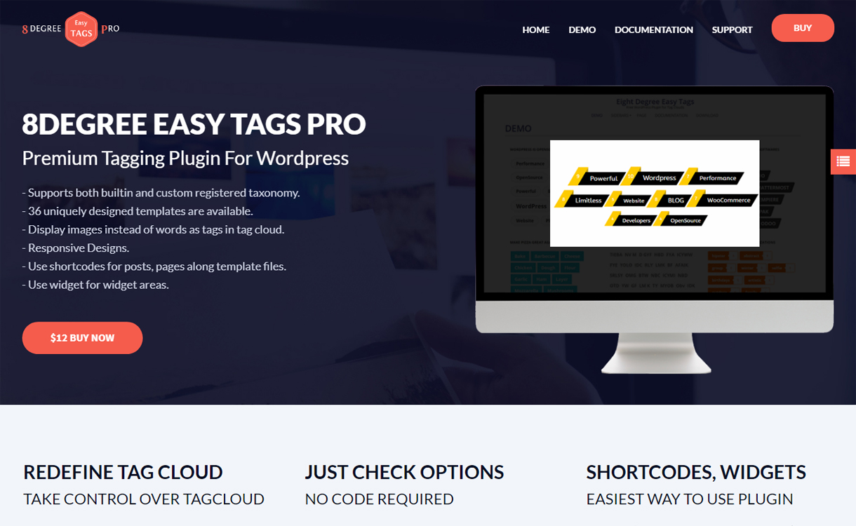 8Degree Easy Tags Pro - WordPress Tagging Plugin
