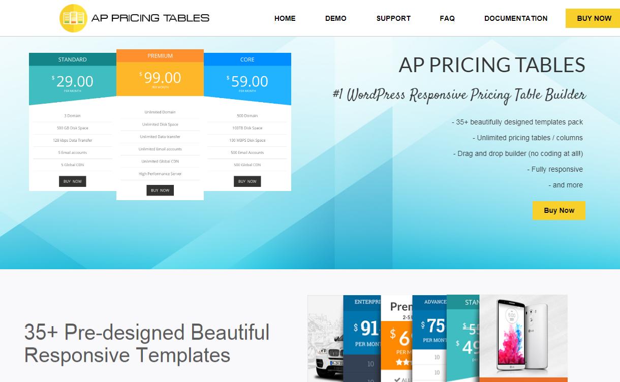 AP Pricing Table - Premium WordPress Pricing Table Plugin