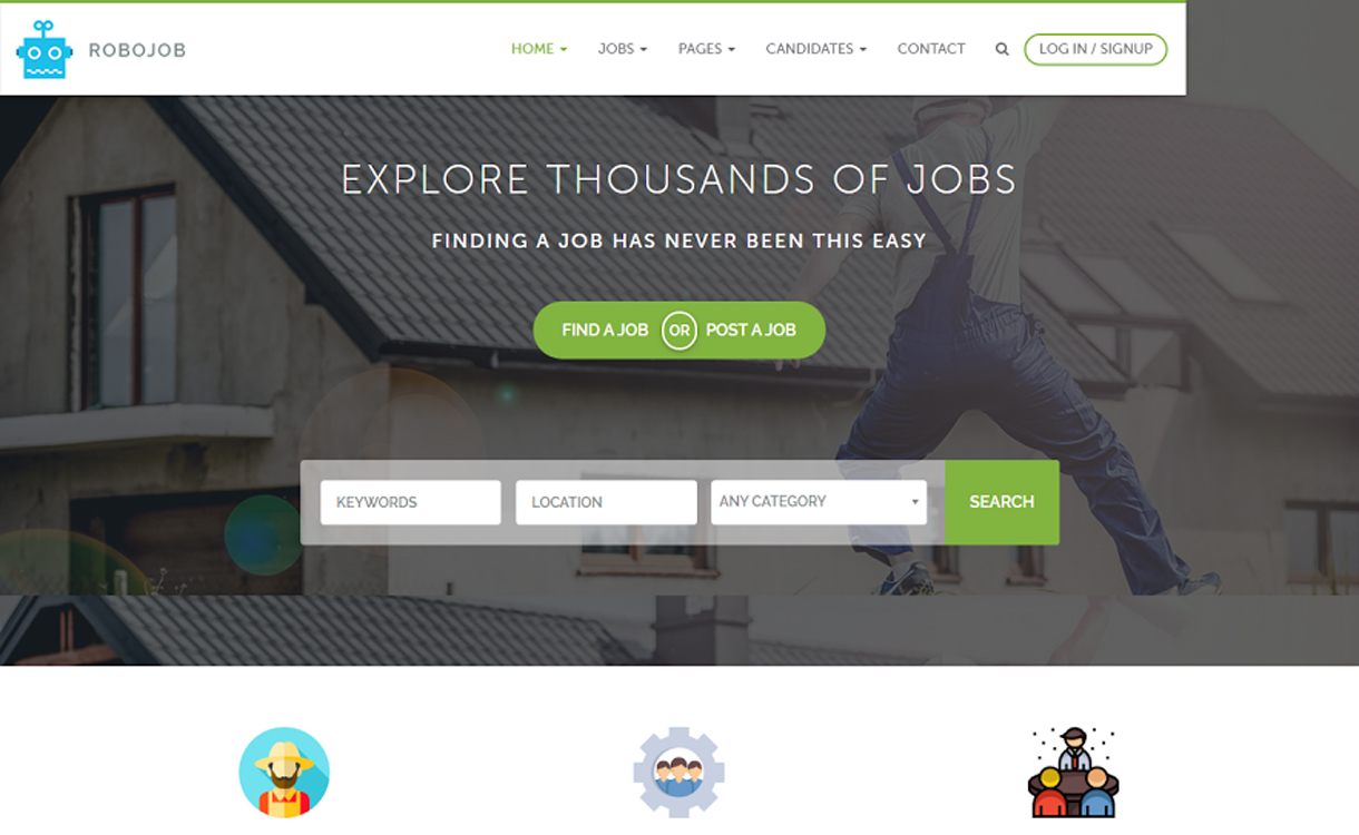 RoboJob – Best WordPress Job Listing Theme
