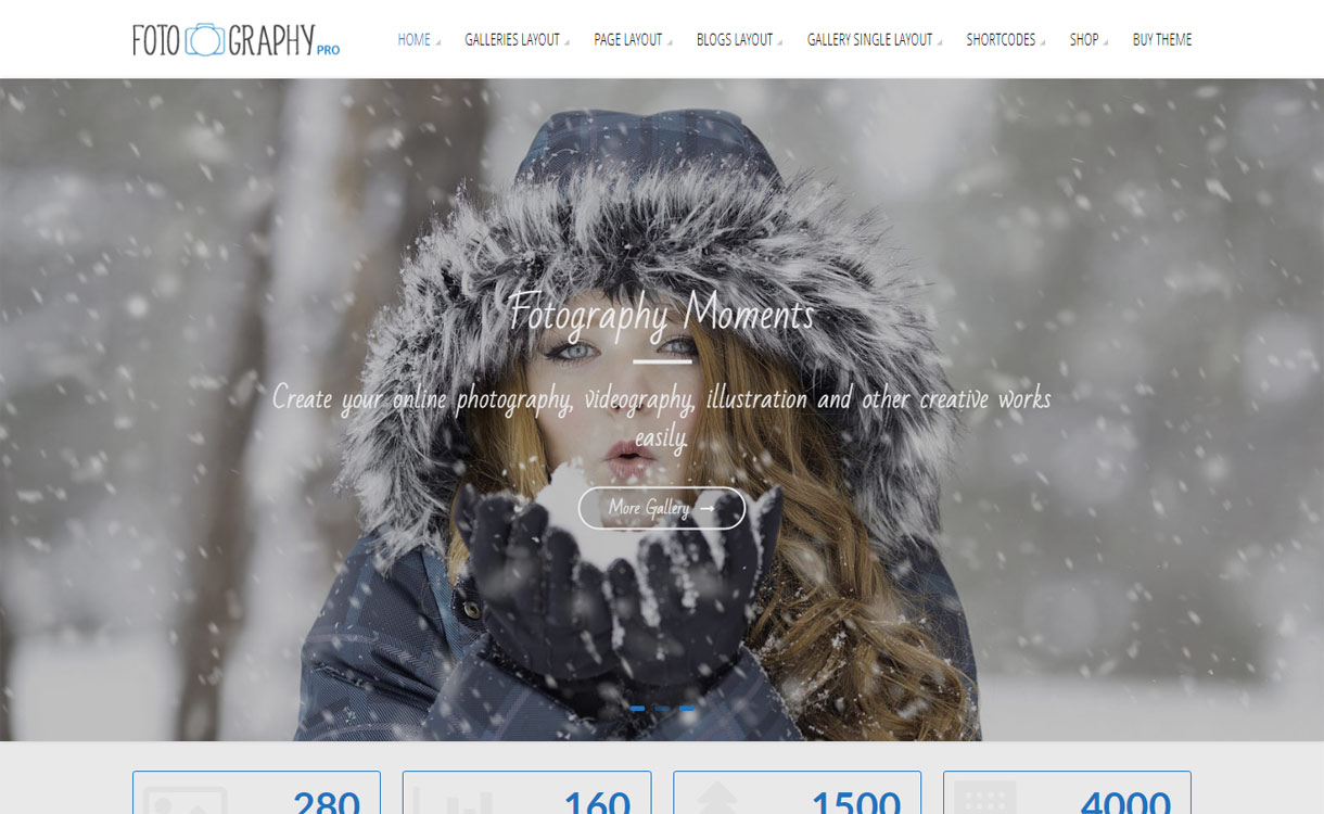 FotoGraphy Pro Premium WordPress Photography Theme