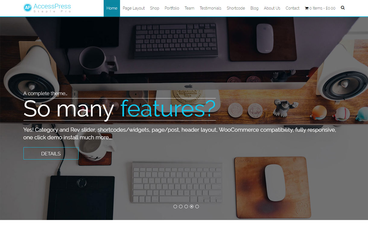 AccessPress Staple Pro Premium WordPress Multipurpose Theme