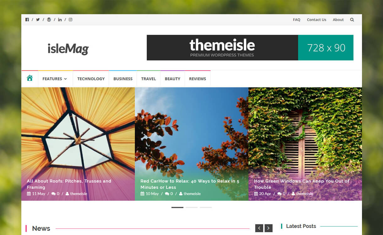 IsleMag - Best Free WordPress News/Magazine/Online Editorial Theme