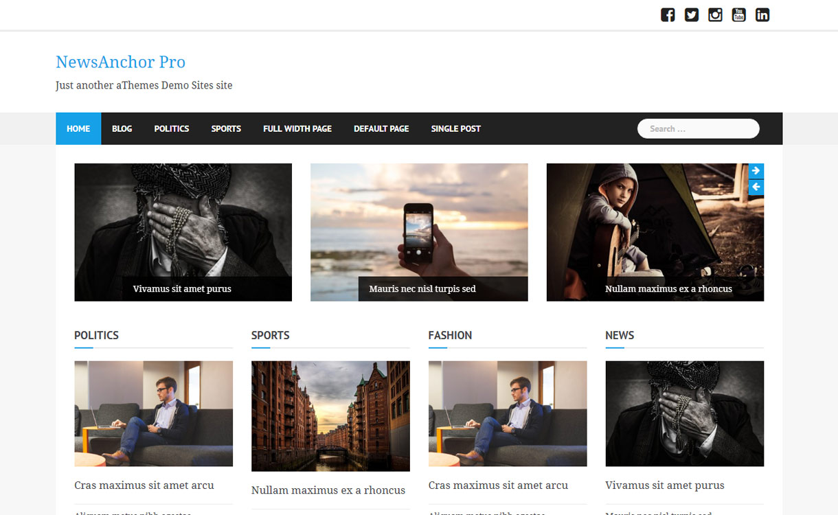 News Anchor Pro WordPress Magazine Theme