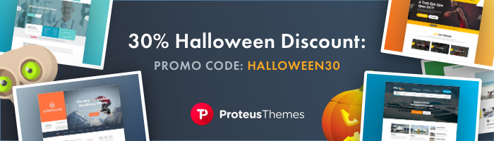 proteusthemes - WordPress Deals and Discounts for Halloween 2017