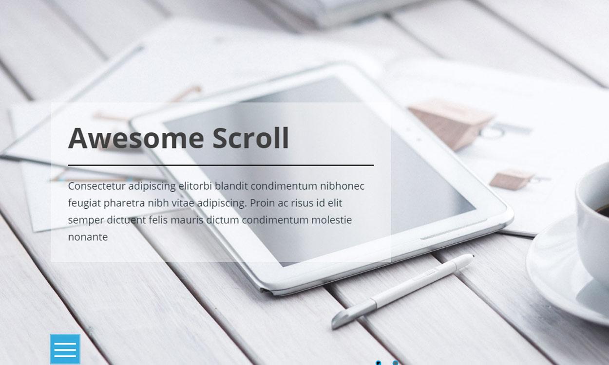 ScrollMe - Premium WordPress Horizontal Scrolling Theme