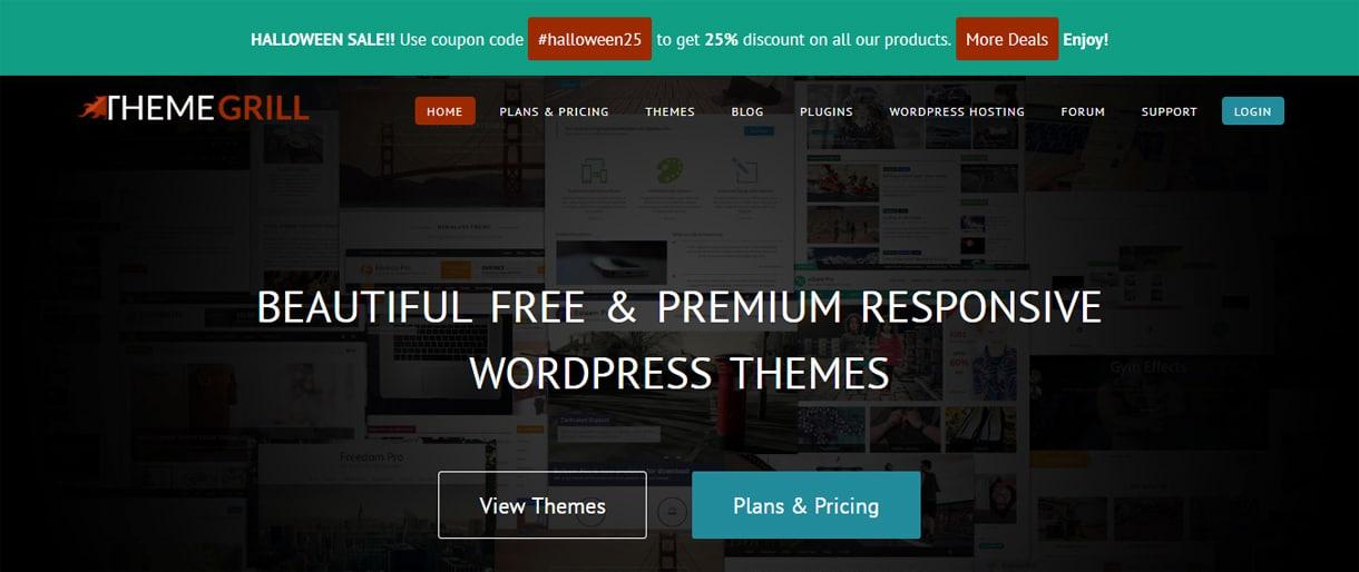 themegrill wordpress deals discounts halloween - WordPress Deals and Discounts for Halloween 2017