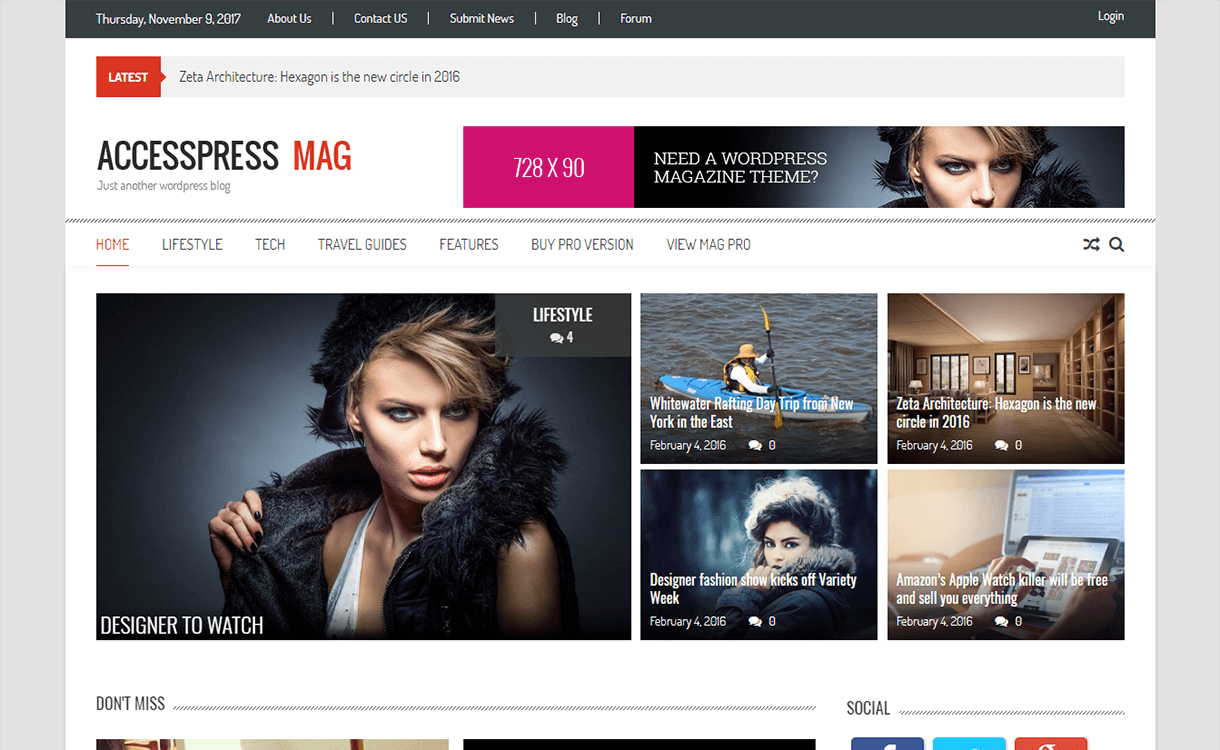 accesspress mag magazine wordpress theme - 25+ Best Free Magazine WordPress Themes For 2019