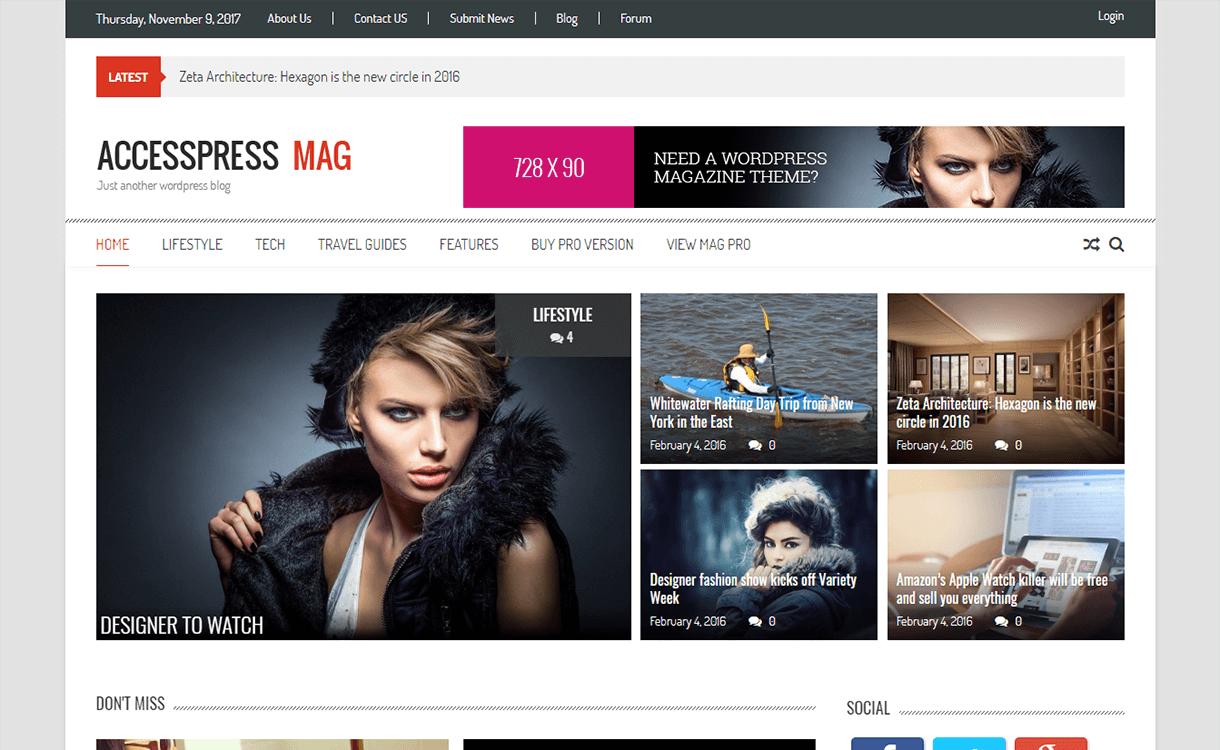 accesspress mag magazine wordpress theme - 25+ Best Free Magazine WordPress Themes For 2019