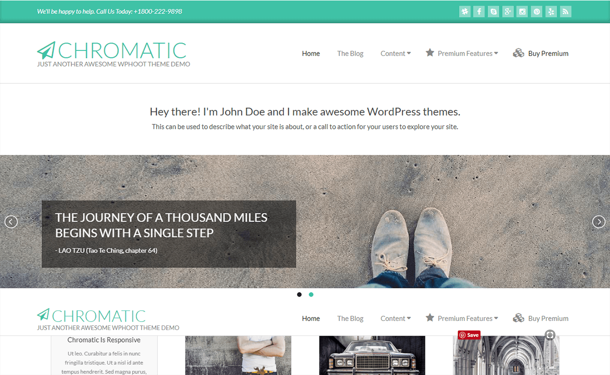 Chromatic-WordPress Material Design Theme