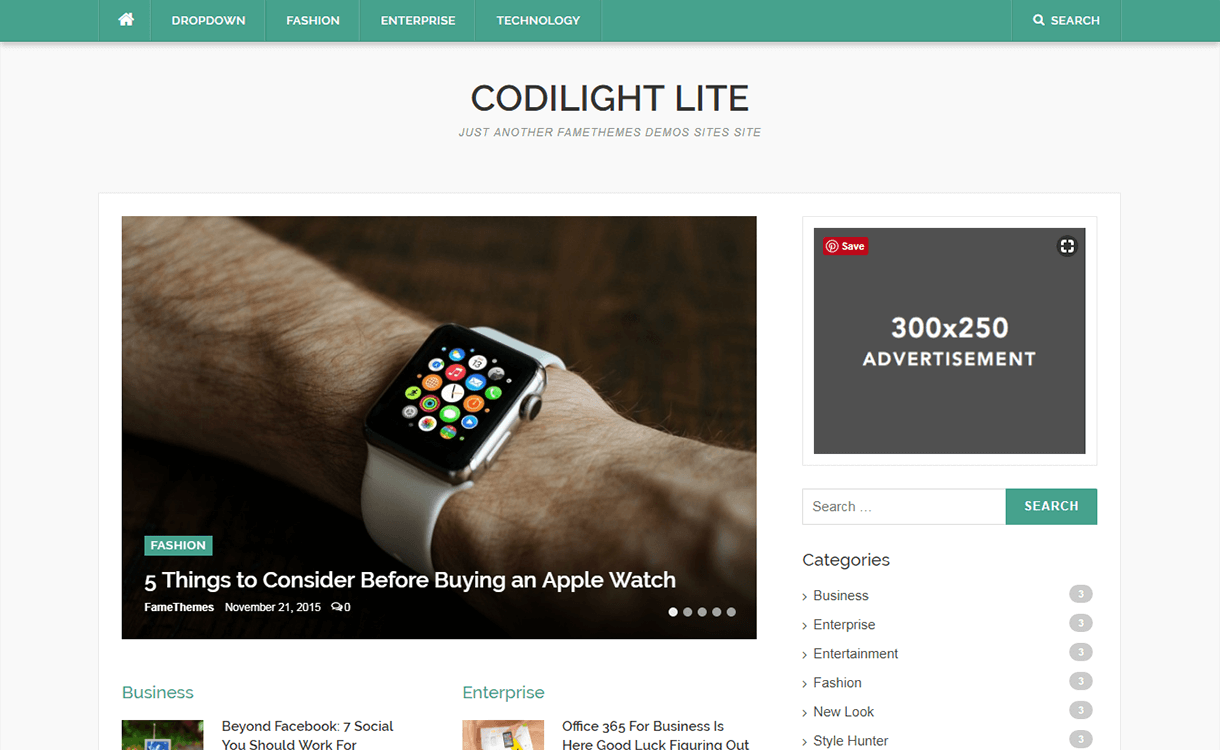 Codilight Lite-Free Magazine WordPress Theme