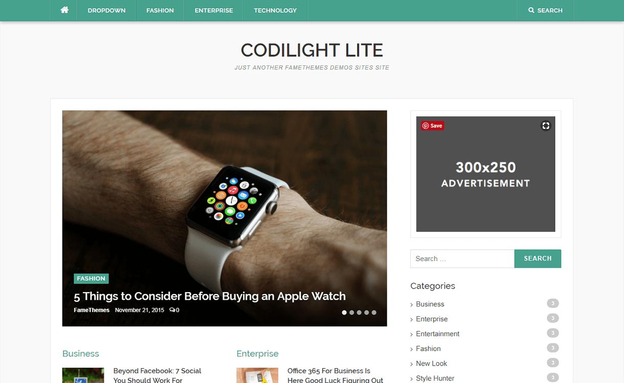 codilight lite magazine wordpress theme - 25+ Best Free Magazine WordPress Themes For 2019