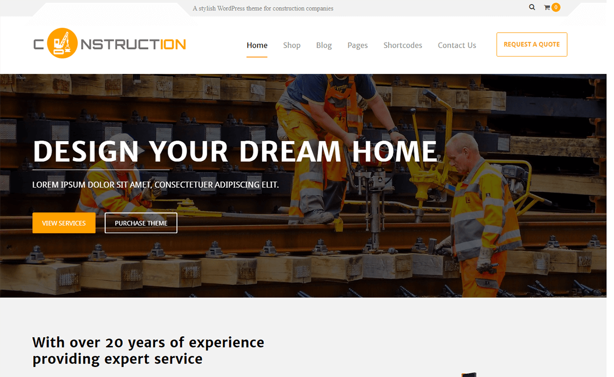 Constuctera-Best Premium WordPress Construction Company Themes 2018