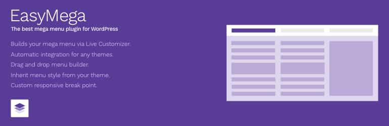 easy mega free wordpress mega menu plugin - 5+ Best Free WordPress Mega Menu Plugins