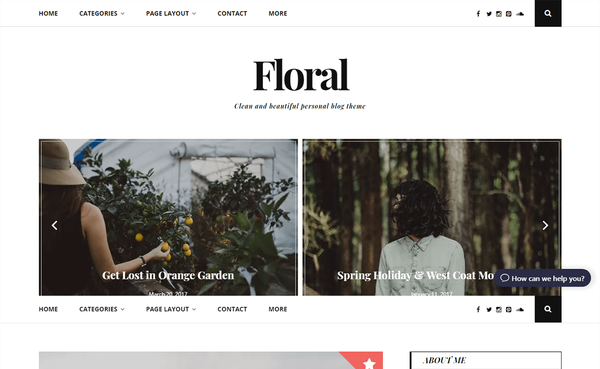 floral lite free wordpress theme - 21+ Best Free WordPress Themes November 2017