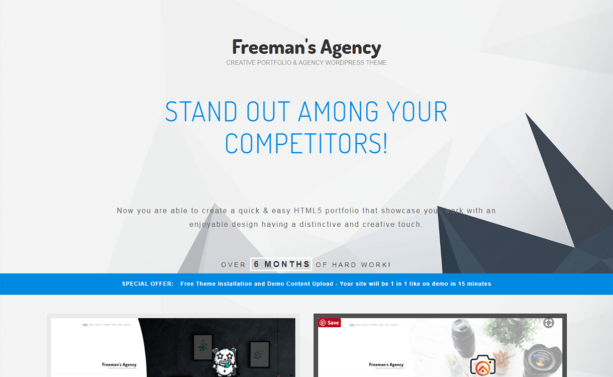 Freeman-Best Premium WordPress Business Agency Themes
