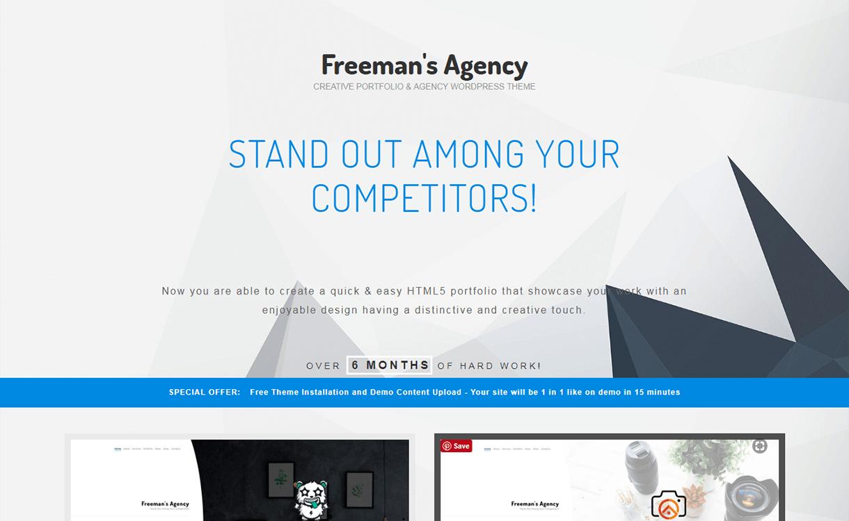 freeman pemium wordpress theme - 30+ Best Premium WordPress Business/Agency Themes for 2019