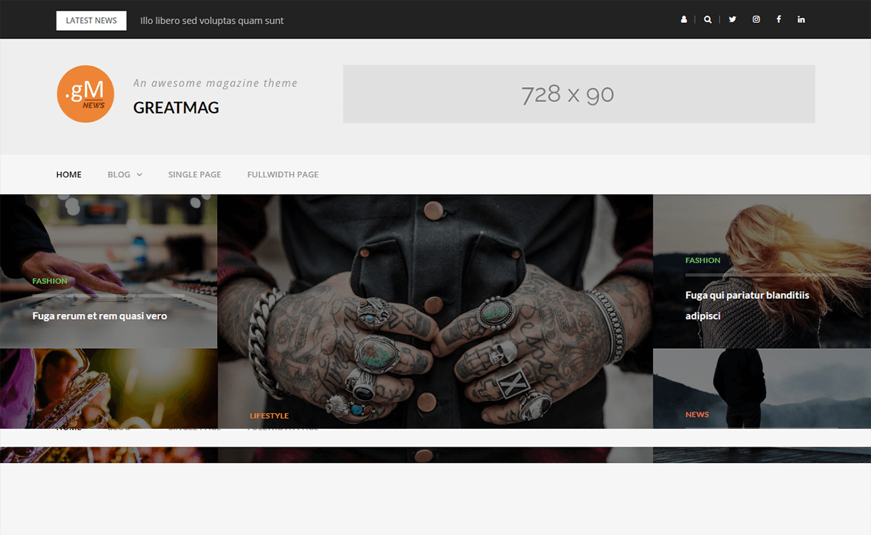 GreatMag-Free Magazine WordPress Theme