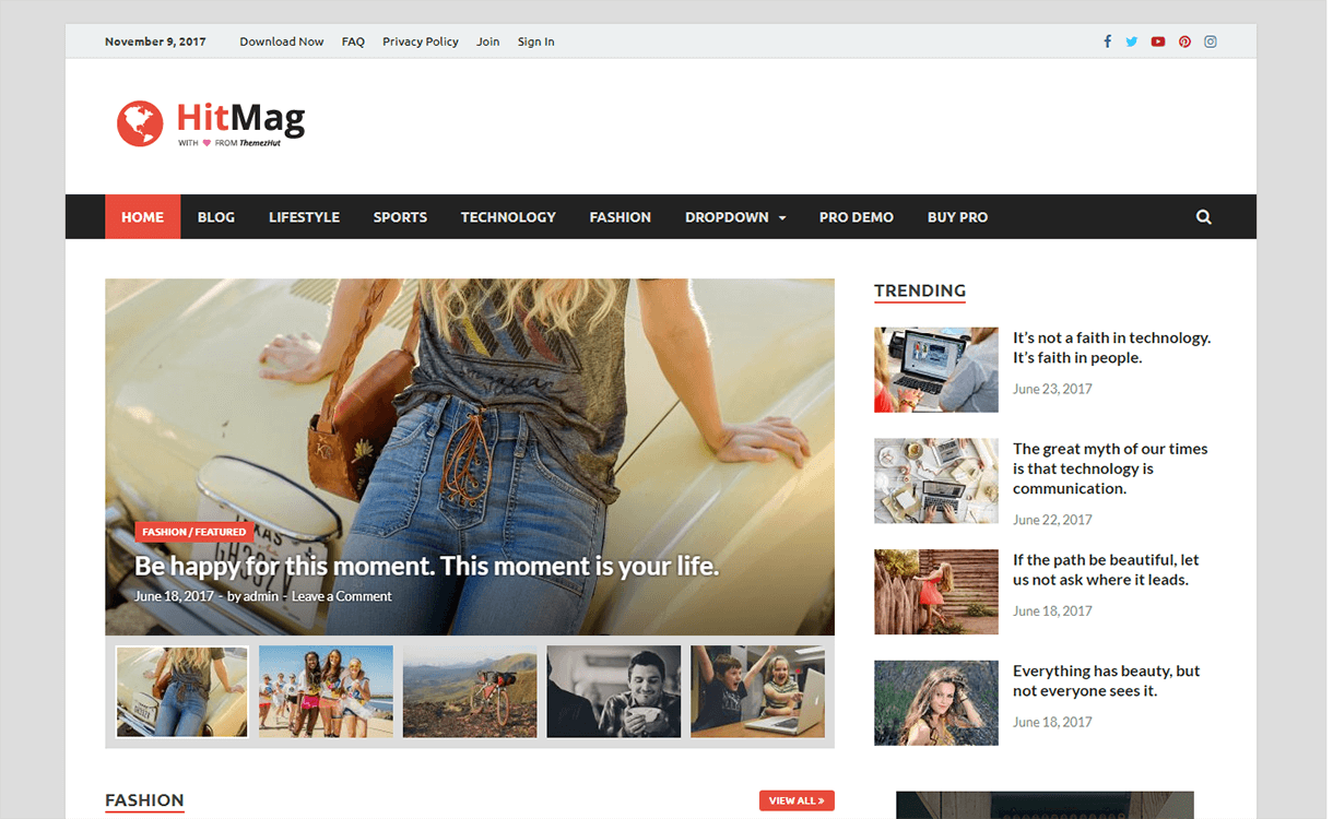 hitmag magazine wordpress theme - 25+ Best Free Magazine WordPress Themes For 2019