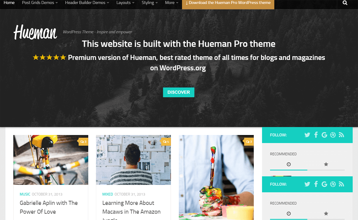 Hueman-Free Magazine WordPress Theme