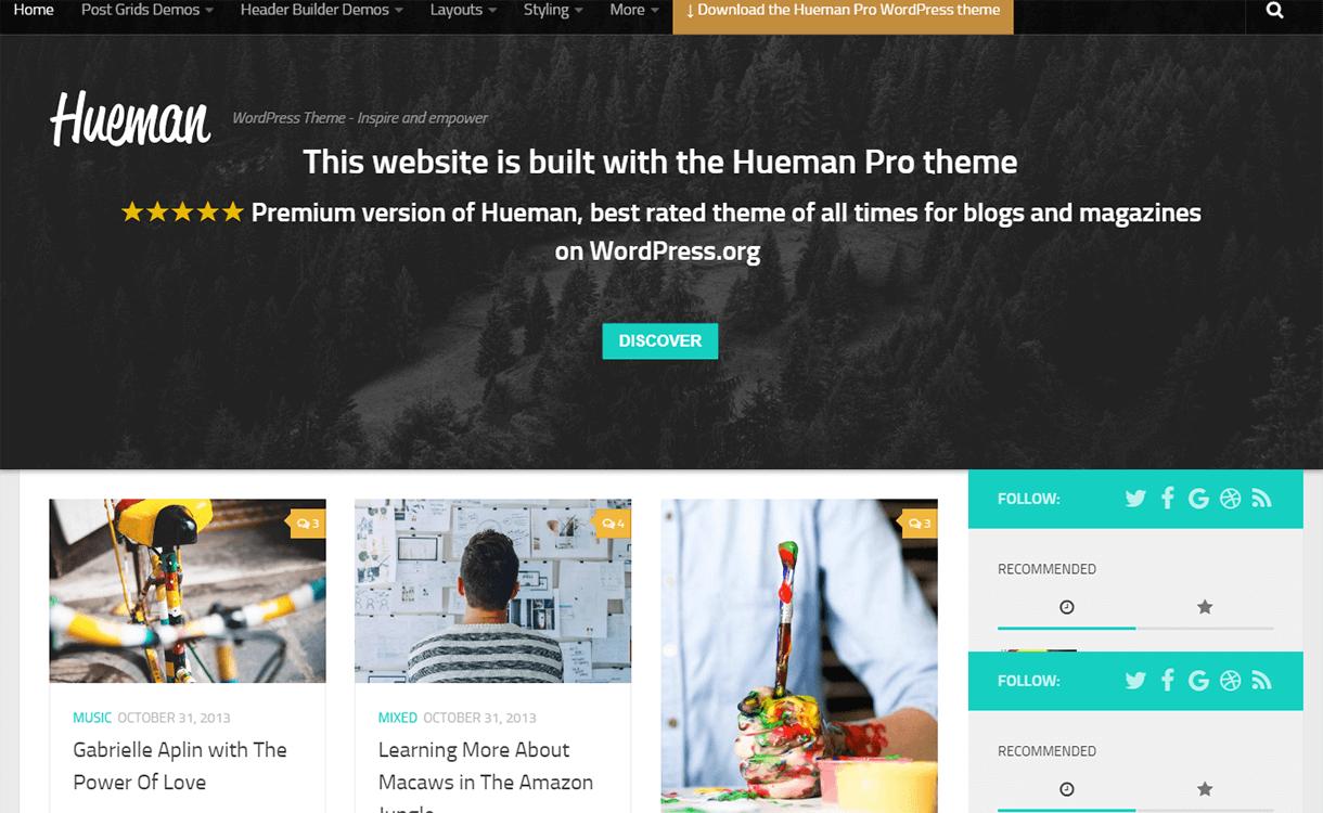 Hueman-Free Magazine WordPress Theme
