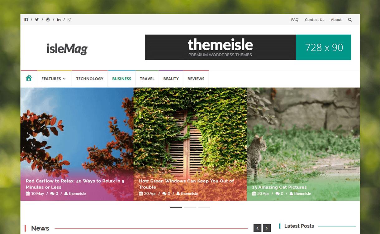 IsleMag-Free Magazine WordPress Theme