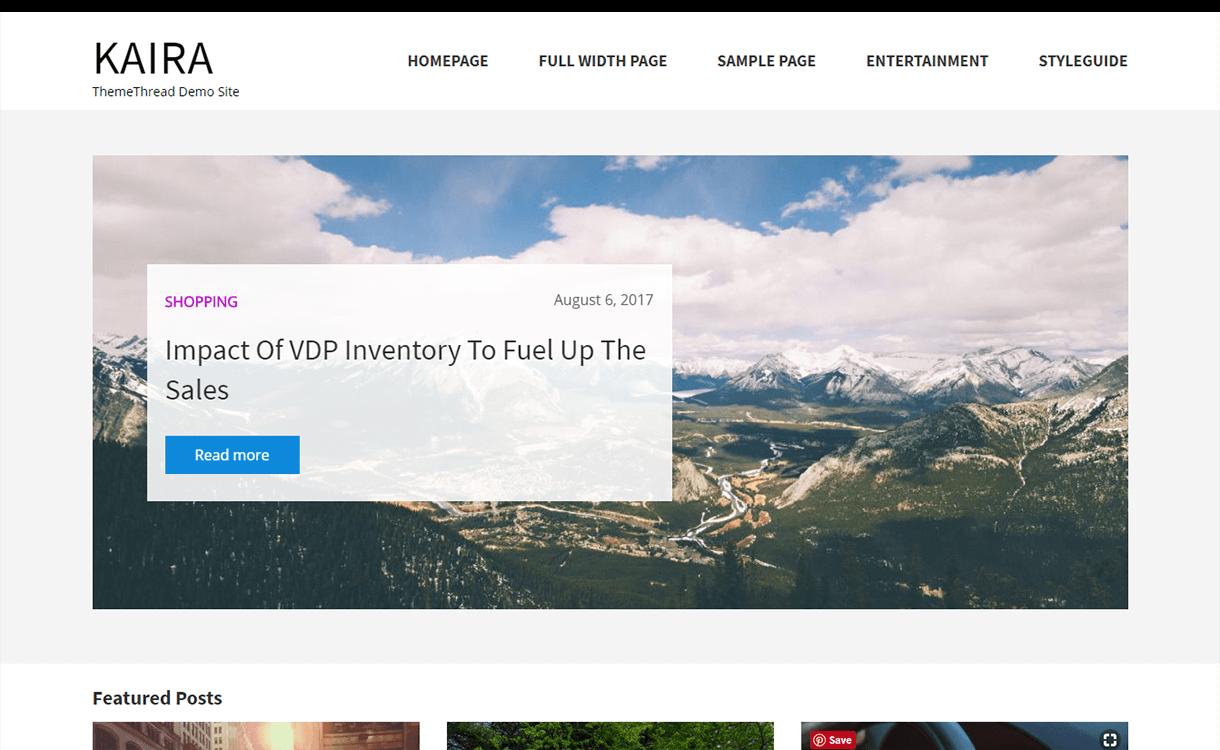 Kaira Lite-Best Free WordPress Themes November 2017