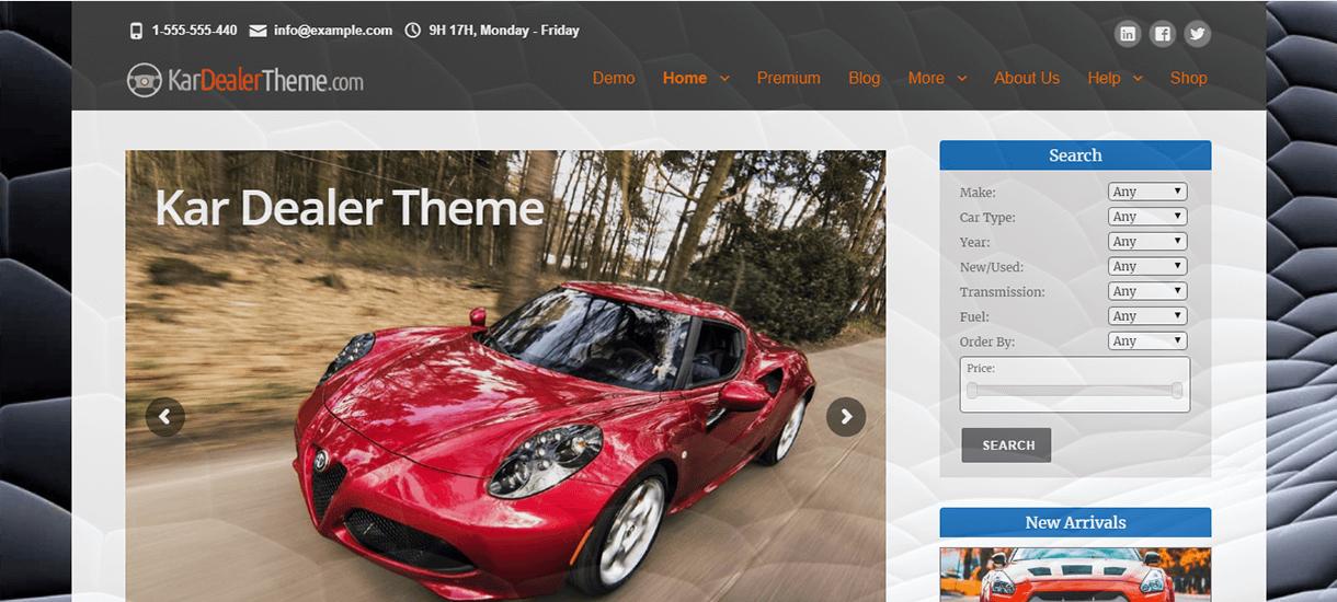 kardealer free wordpress theme - 21+ Best Free WordPress Themes November 2017