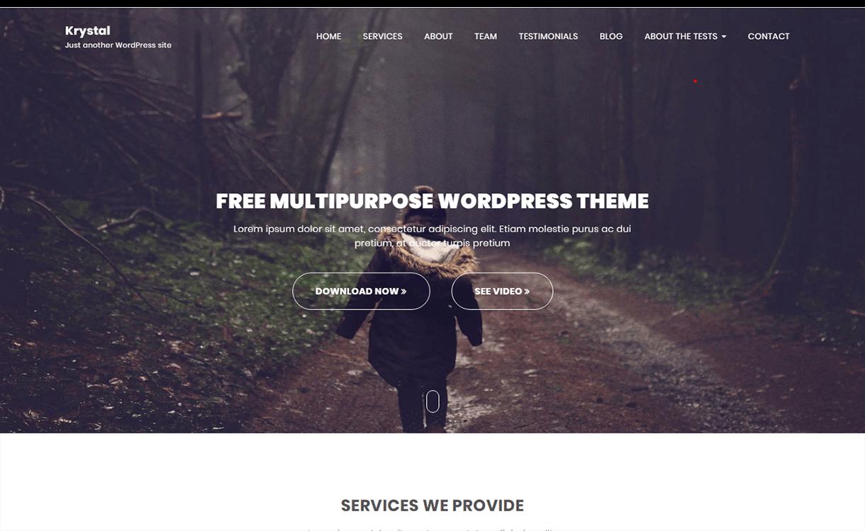 krystal free wordpress theme - 21+ Best Free WordPress Themes November 2017